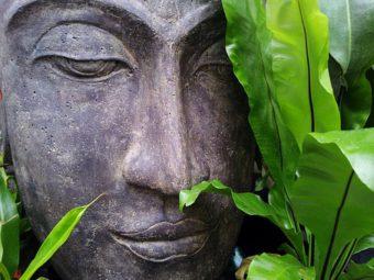 Buddha represents the Zen style of Gardening