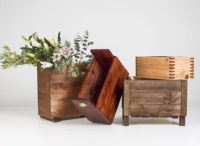 Wooden planters are great in the garden